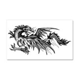 Dragon Looking Back Car Magnet 20 x 12