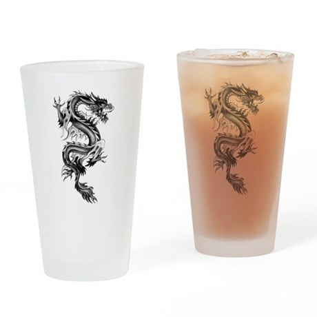 Flaming Dragon Drinking Glass