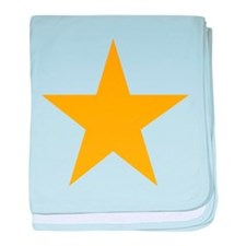 Five Pointed Yellow Star baby blanket