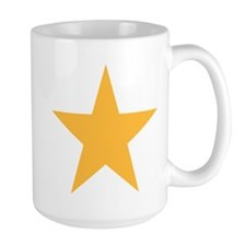 Five Pointed Yellow Star Large Mug