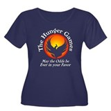 The Hunger Games Women's Plus Size Scoop Neck Dark