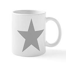 Five Pointed Grey Star Mug