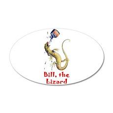 Bill the Lizard 38.5 x 24.5 Oval Wall Peel