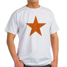 Five Pointed Burnt Orange Star T-Shirt