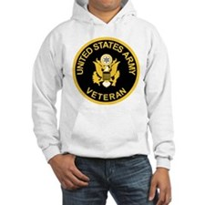 Army Veteran Sweatshirt<BR>Gold On Black