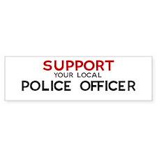 Support: POLICE OFFICER Bumper Bumper Sticker