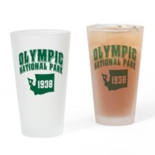 Olympic Old Style Green Drinking Glass