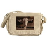 Goat in fence Messenger Bag