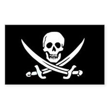 Jolly Roger Rectangle Decal