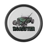 1932 Ford Roadster Green Large Wall Clock