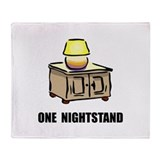 One Nightstand Throw Blanket