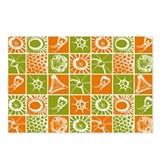 MLT in Orange and Green Postcards (Package of 8)