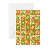 MLT in Orange and Green Greeting Cards (Pk of 20)