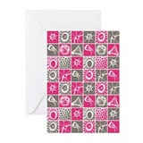 MLT in Pink and Gray Greeting Cards (Pk of 20)