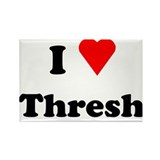 I Love Heart Thresh Rectangle Magnet