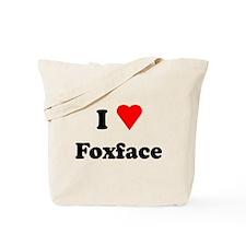 I Heart Love Foxface Tote Bag
