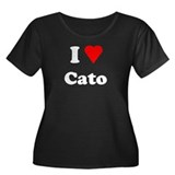 I Heart Love Cato Women's Plus Size Scoop Neck Dar