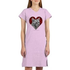 Bengal Cat Heart Women's Nightshirt