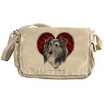 Sheltie Heart Messenger Bag