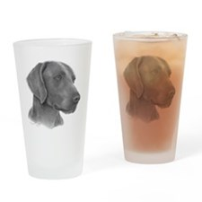 Weimeraner Drinking Glass