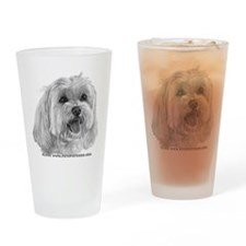 Sadie, Maltese Drinking Glass
