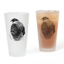 Pug Drinking Glass