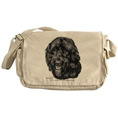 Happy, Mixed Breed, Messenger Bag
