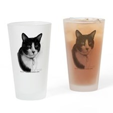 Tuxedo Cat Drinking Glass