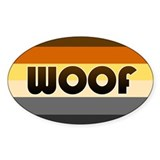 Bear 'Woof' Decal