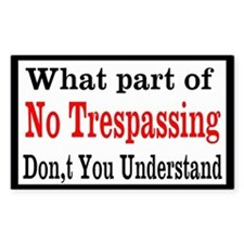 No Trespassing Custom Decal