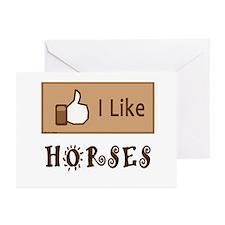 I Like Horses Greeting Cards (Pk of 20)