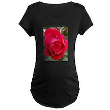 Rain Drop Red Rose T-Shirt