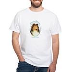 Shetland Sheepdog White T-Shirt