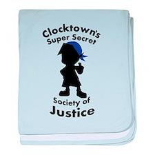 Clocktown Bomber Blue baby blanket