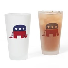 Elephant Pooing Donkey Drinking Glass