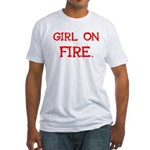 Girl On Fire Fitted T-Shirt