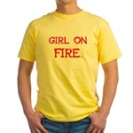 Girl On Fire Yellow T-Shirt