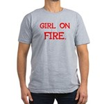 Girl On Fire Men's Fitted T-Shirt (dark)