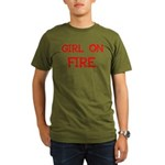 Girl On Fire Organic Men's T-Shirt (dark)
