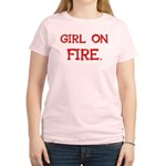 Girl On Fire Women's Light T-Shirt