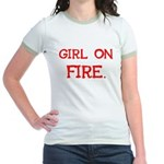 Girl On Fire Jr. Ringer T-Shirt