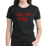 Girl On Fire Women's Dark T-Shirt