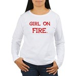 Girl On Fire Women's Long Sleeve T-Shirt