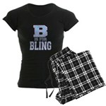 B is for Bling Women's Dark Pajamas
