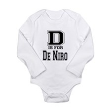D is for De Niro Long Sleeve Infant Bodysuit