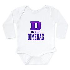 D is for Dimebag Long Sleeve Infant Bodysuit