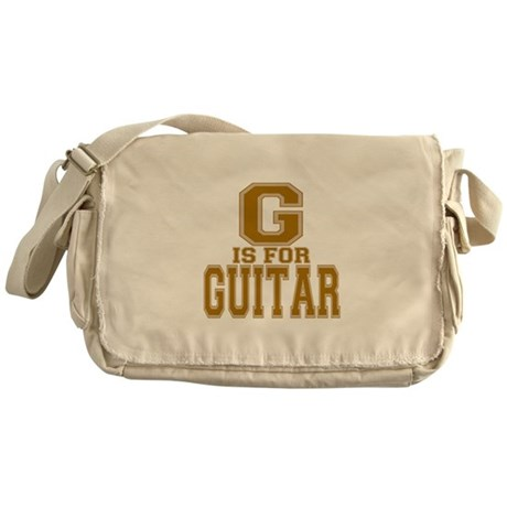 G is for Guitar Messenger Bag
