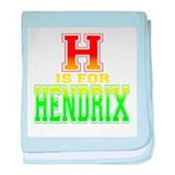 H is for Hendrix baby blanket