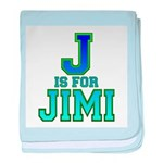 J is for Jimi baby blanket