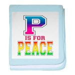 P is for Peace baby blanket